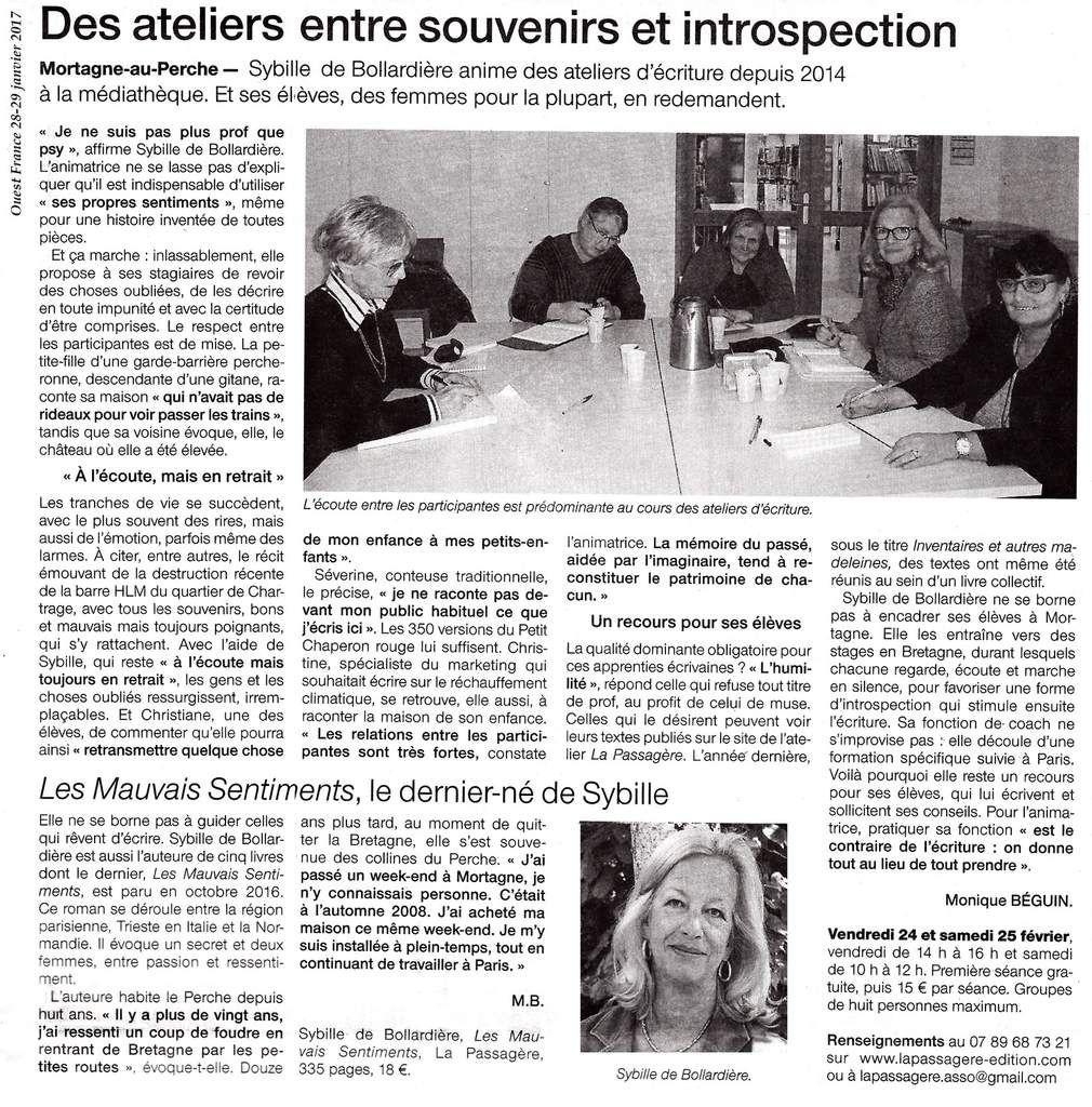 Ouest France 28 janvier 2017
