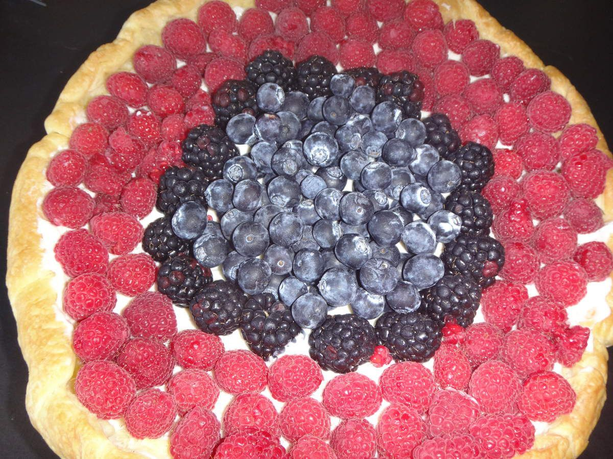 Tarte aux fruits rouge