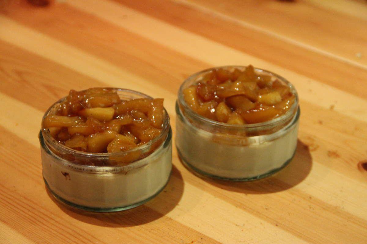 Pana Cotta pommes rôties