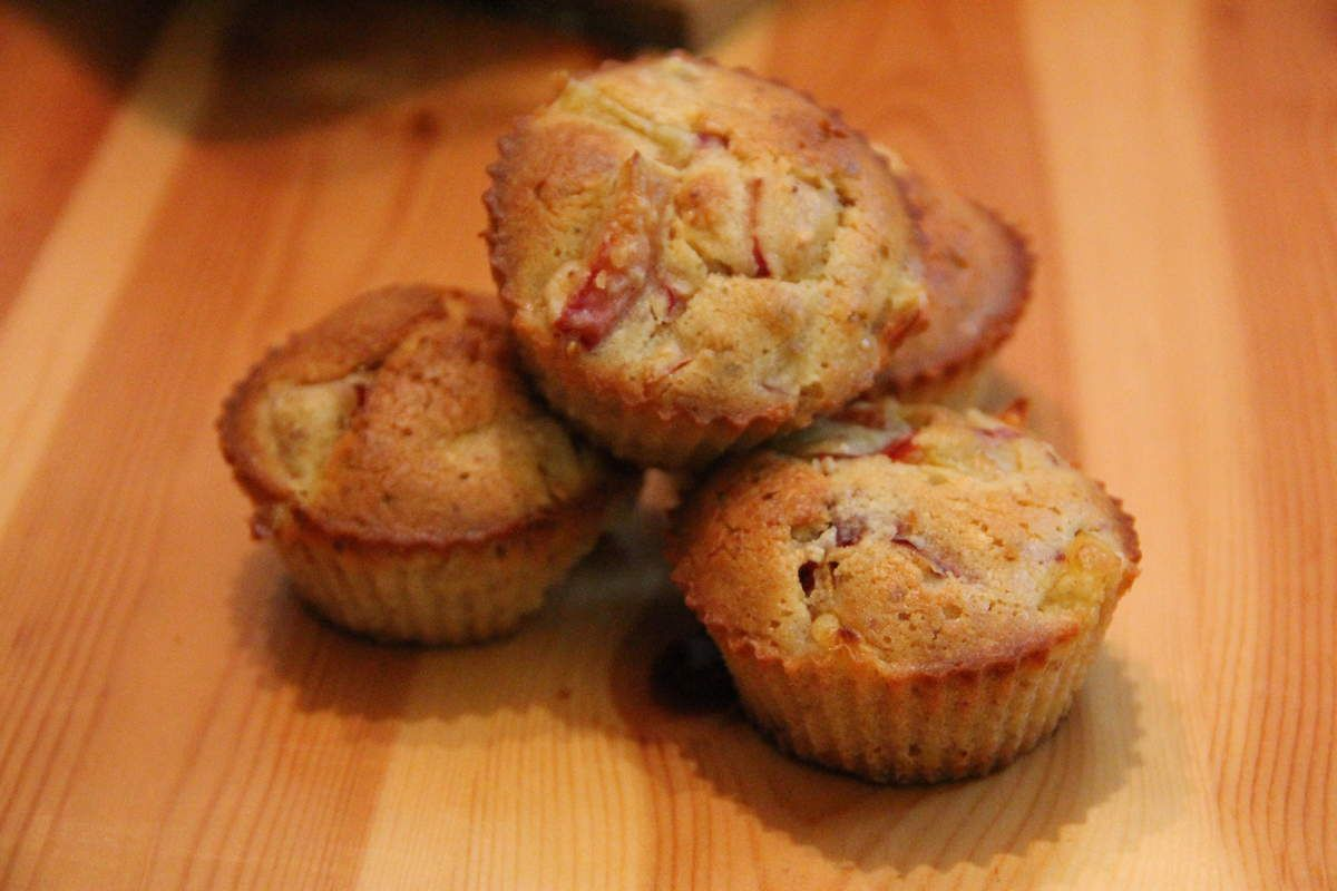 Muffins aux pêches