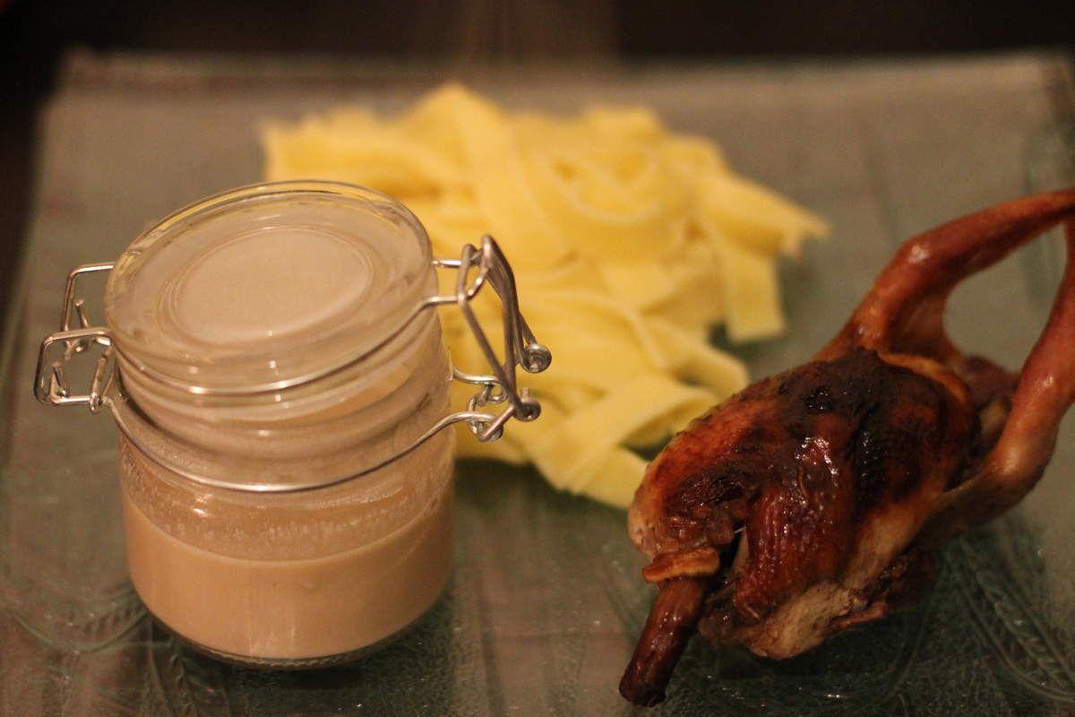 Caille sauce foie gras
