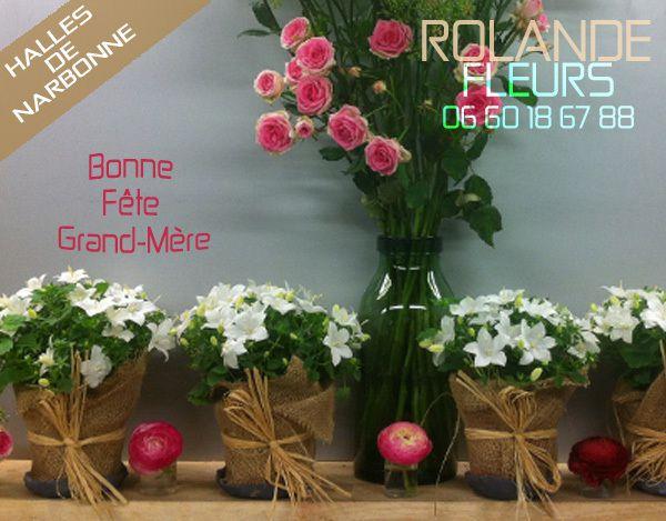 fête des grands-mères 2015 Rolande fleuriste aux halles de Narbonne