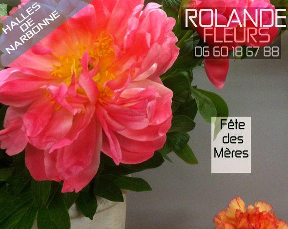 Fête des mères chez votre fleuriste Rolande aux halles de Narbonne en Languedoc Roussillon