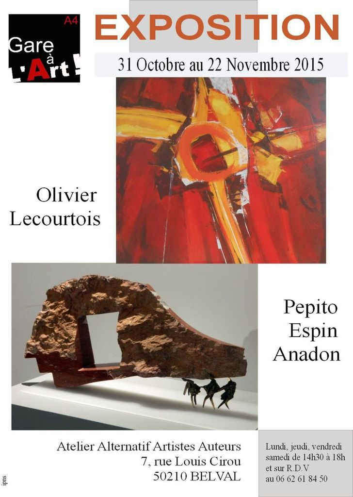 Exposition Gare à l'Art...avec Pepito Espin Anadon