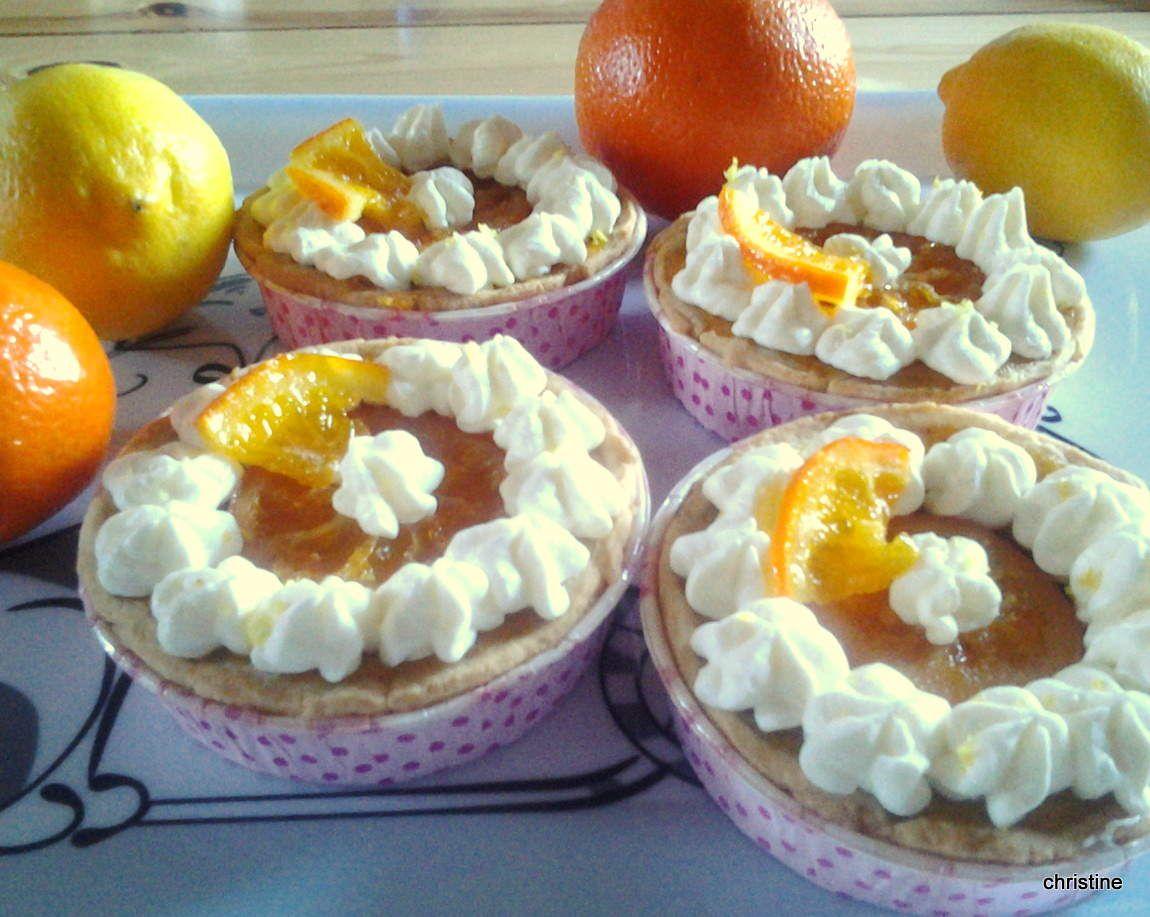 Tartelettes Butternut-agrumes