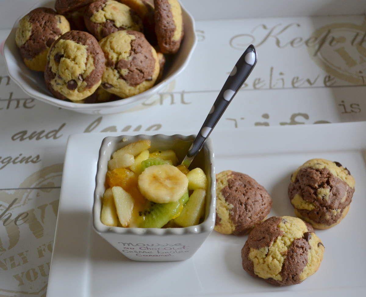 Cookies marbrés et pépités