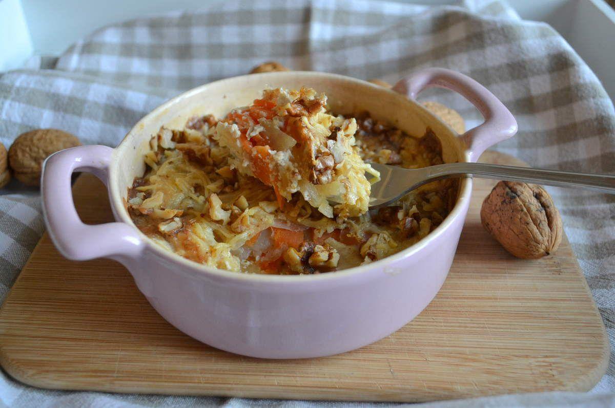 Gratin Pomme de terre-carotte-noix
