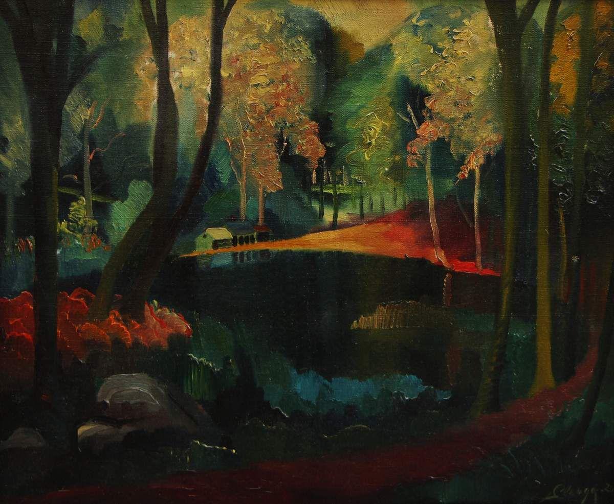 Huelgoat (le bois d'en haut), Monts d'Arrée, Bretagne, 1920