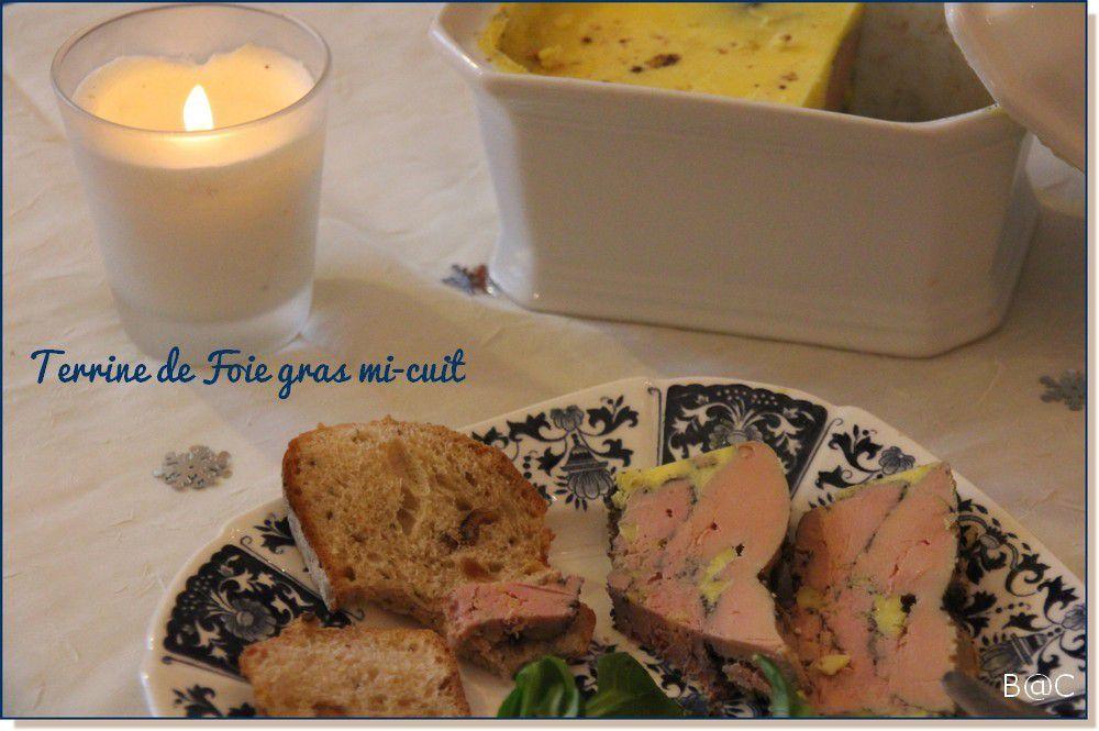 Foie gras mi-cuit aux épices douces
