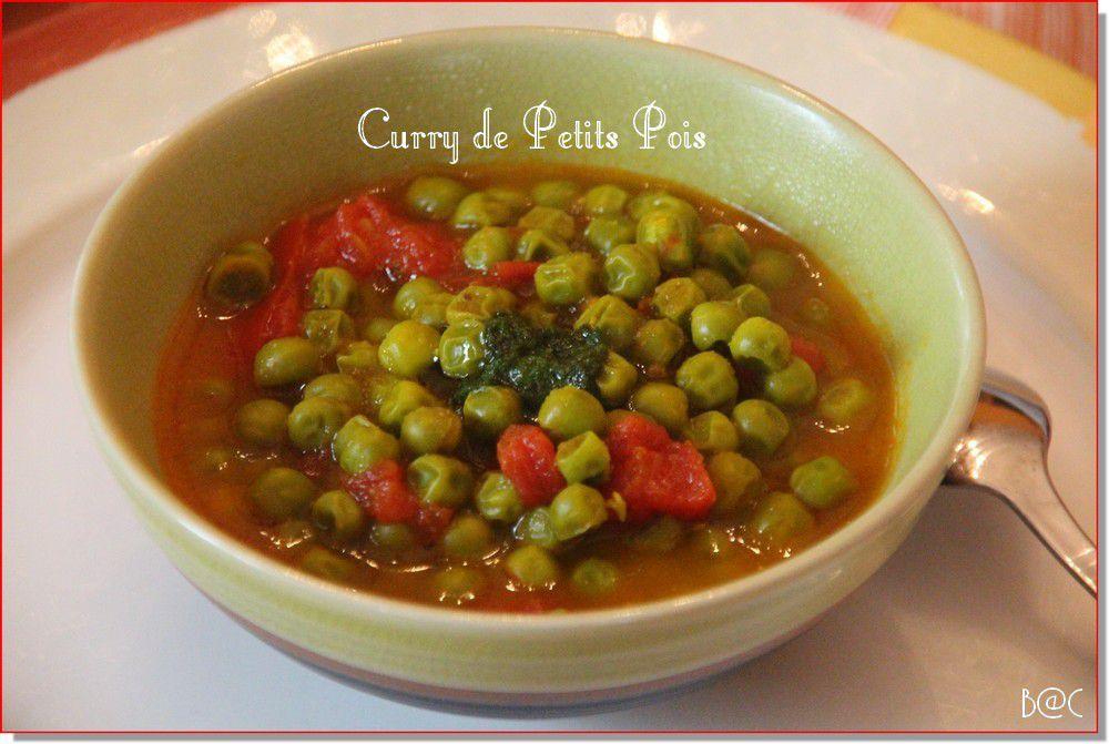Curry de petits pois et tomates