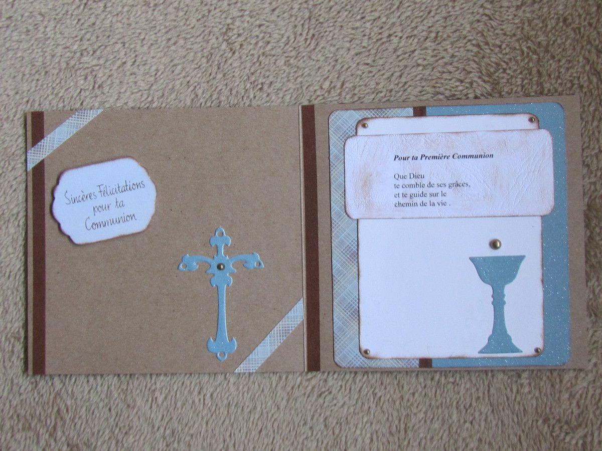 Carte double , masking tape , découpes et petit texte.