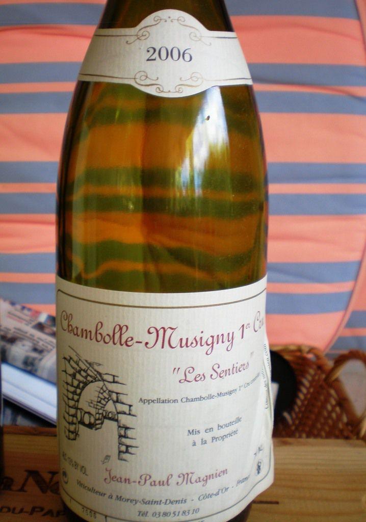 « Chambolle-Musigny 1er cru &quot&#x3B;Les Sentiers&quot&#x3B; 2006 - Jean-Paul MAGNIEN »