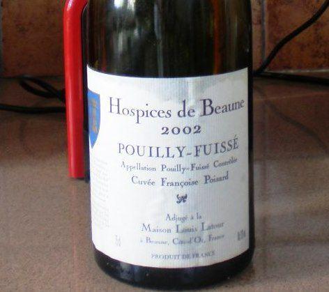 « Hospices de Beaune - Pouilly Fuissé &quot&#x3B;Cuvée Françoise Poisard&quot&#x3B; 2002 - Maison Louis Latour »