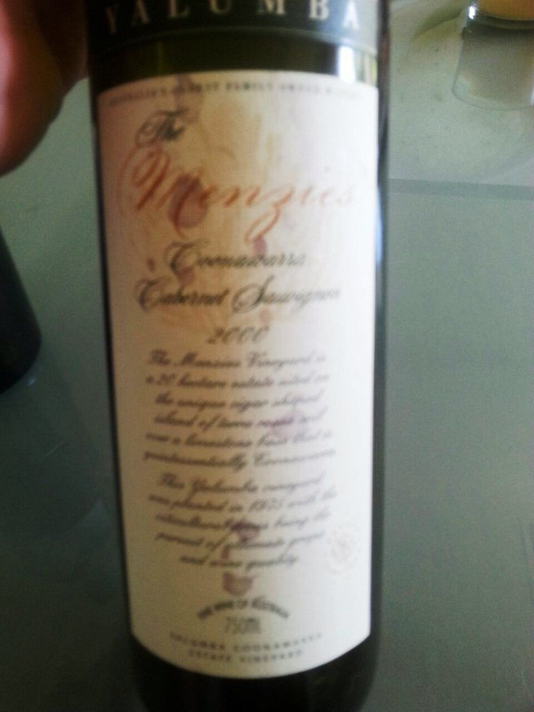Yalumba The Menzies 2000