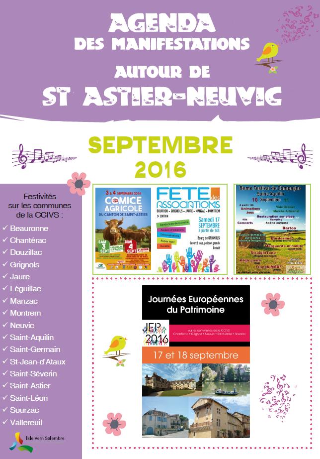 Agenda septembre 2016
