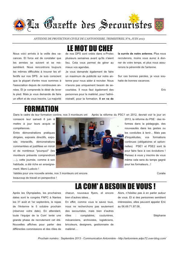 La Gazette des Secouristes