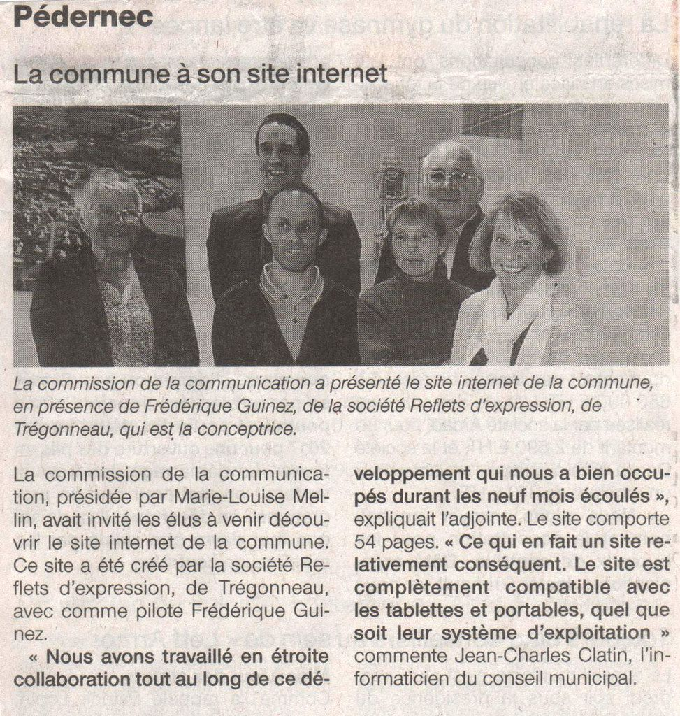 Site internet officiel de Pédernec, articles de Presse