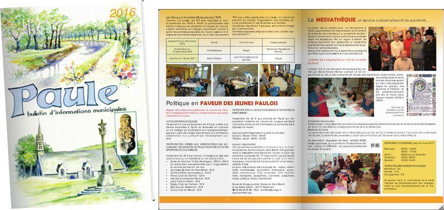 Bulletin municipal commune de Paule en Bretagne