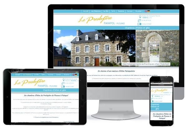 Site internet &quot&#x3B;Chambres d'hôtes&quot&#x3B; Le Presbytère de Plounez à Paimpol