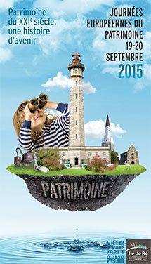 Auu Journées Européennes du Patrimoine 2015, à Sainte-Marie-de-Ré