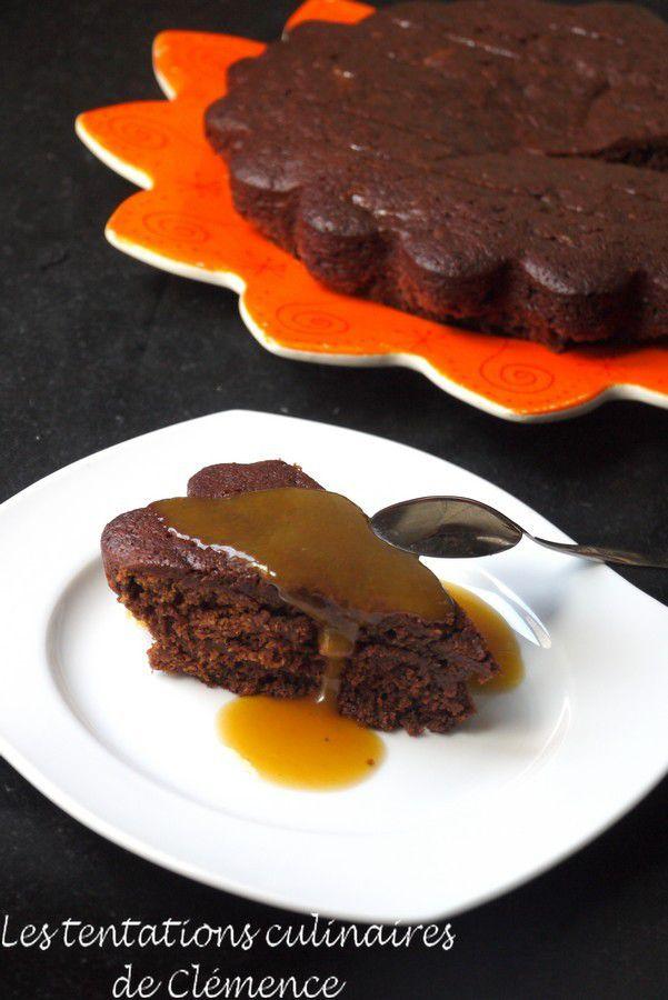 Gâteau au chocolat très abricoté