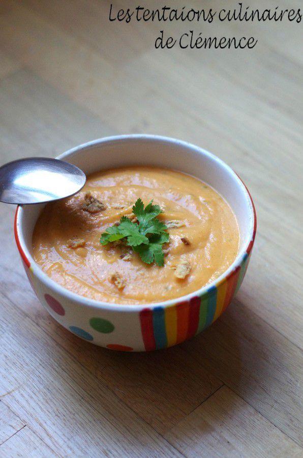 Soupe de carottes au beurre de cacahuète, saveur thaï