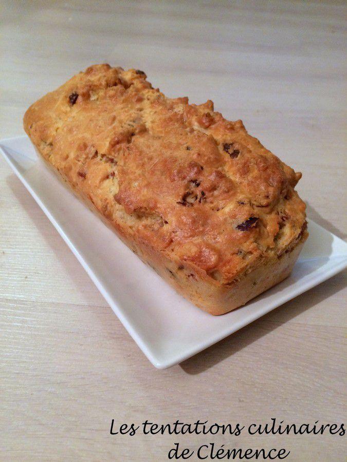 Cake lardons, Roquefort et noix