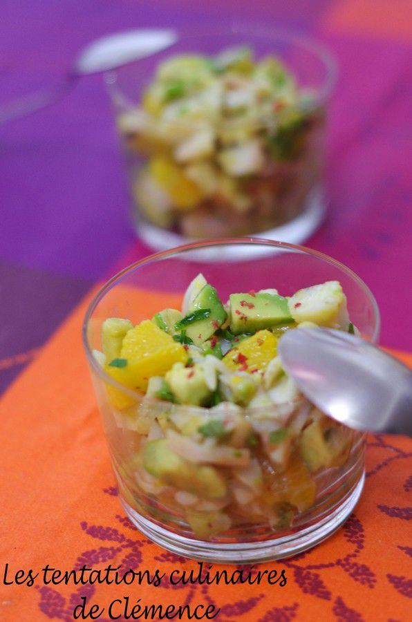 Salade de colin, orange et avocat