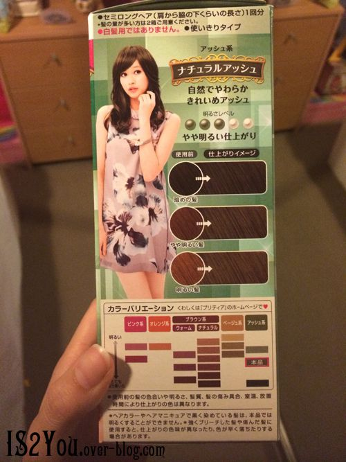 The hair dye package.