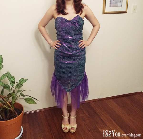 Purple and Green was the theme so i made a purple and green costume!
