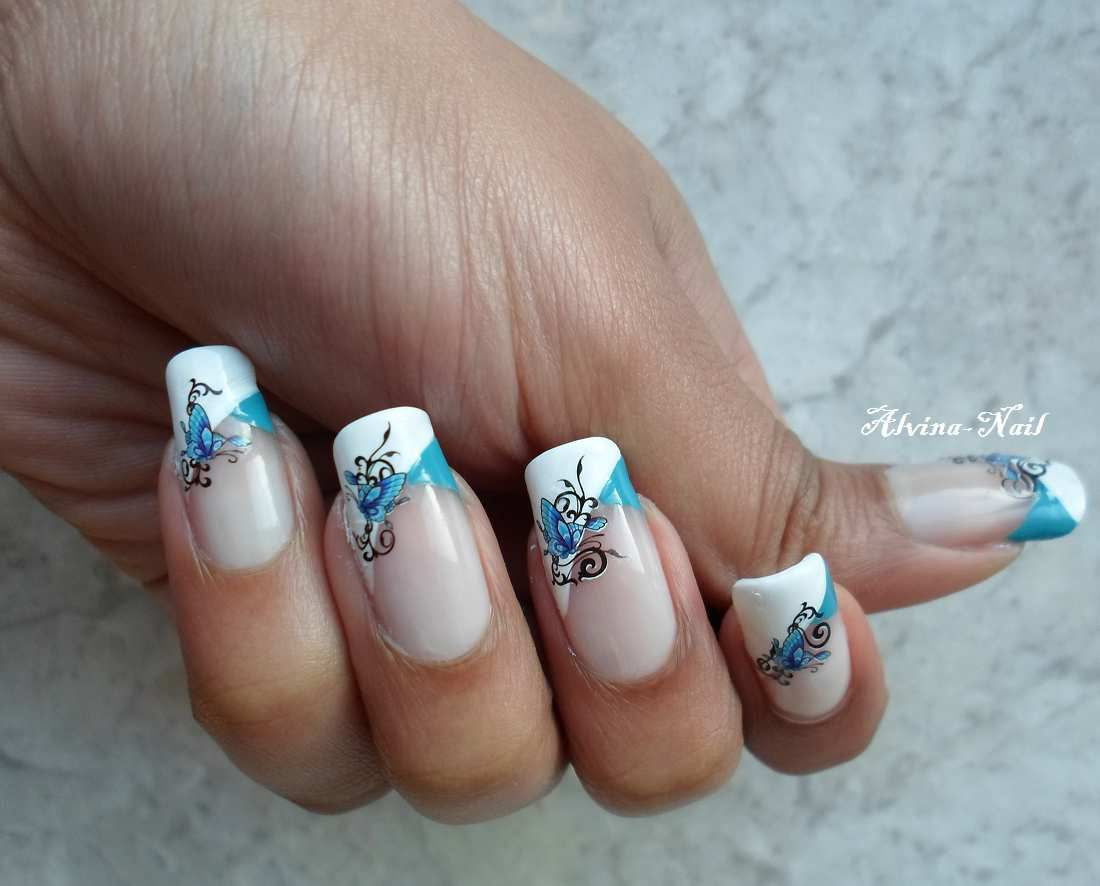 NéeJolie - Water Decals Papillon bleu 1398