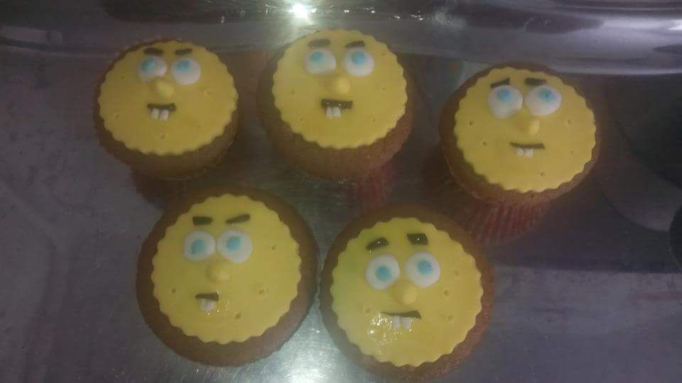 Muffins deco bob l'éponge