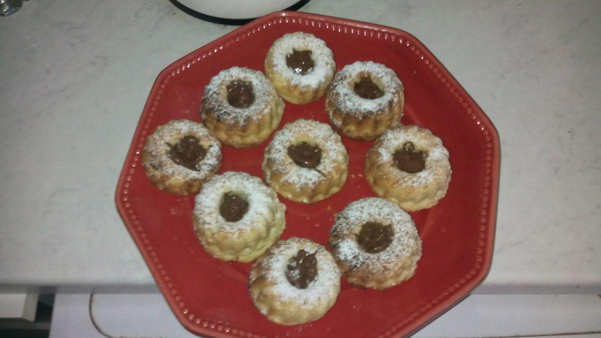 Gâteaux sec garni de Nutella