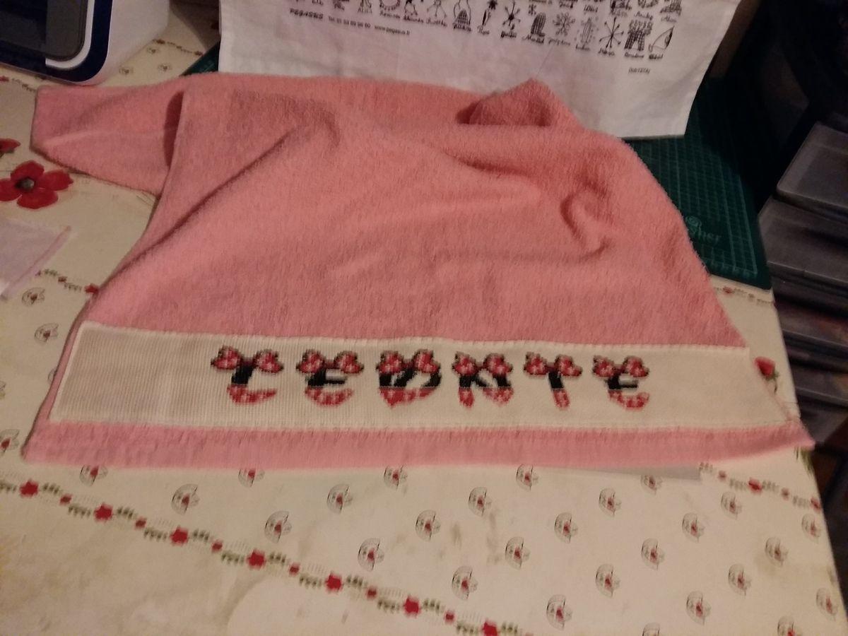Et voilà la petite serviette de Léonie terminé