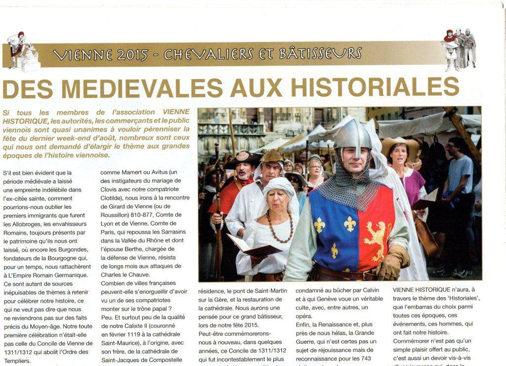 """Photo de la Mesnie  dans le cadre des Historiales de Vienne """"Bâtisseurs et Chevaliers"""""""