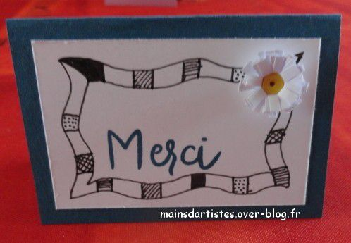Le second swap, cette fois association de quilling et zentangle.