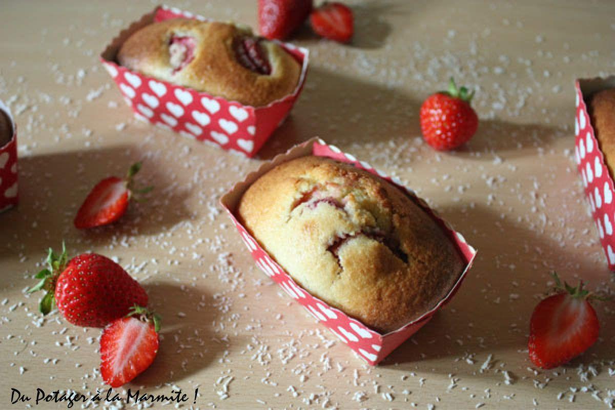 Mini-Cakes aux Fraises et à la Noix de Coco