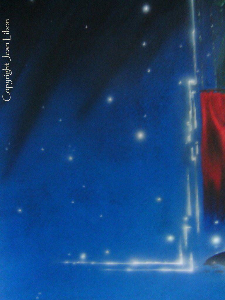 """"""" Annonciation """", peinture rendant hommage à Matthias Grunenwald"""