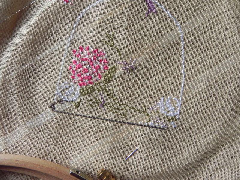 Roses blanches sous cloche - Zaza Picque