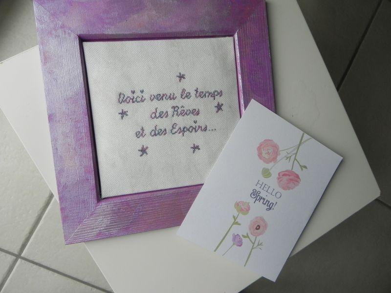 Une jolie grille offerte par Douce Parenthèse - Fil Un petit fil ... toile marbrée