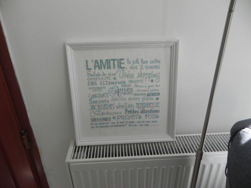 L'Amitié - Histoires de lin - brodée grâce au SAL de Prunelle grise !