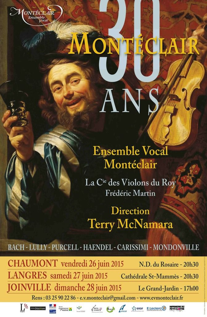 Juin 2015: Programme des concerts anniversaires: 30 ans de l'ensemble vocal, 20 ans de direction pour Terry McNamara