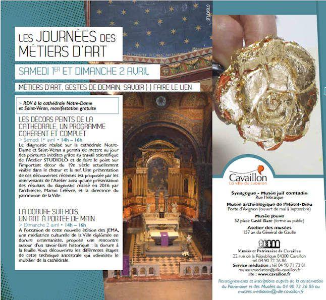 Manifestation gratuite proposée par le Service des Musées et du Patrimoine de Cavaillon