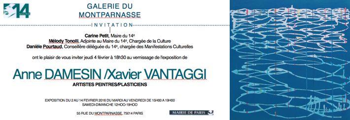 Exposition à la Galerie du Montparnasse du 2 au 14 février