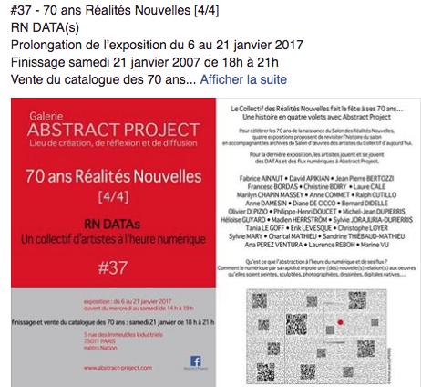 Abstract Projet. Prolongation de l'exposition jusqu'au 21 janvier