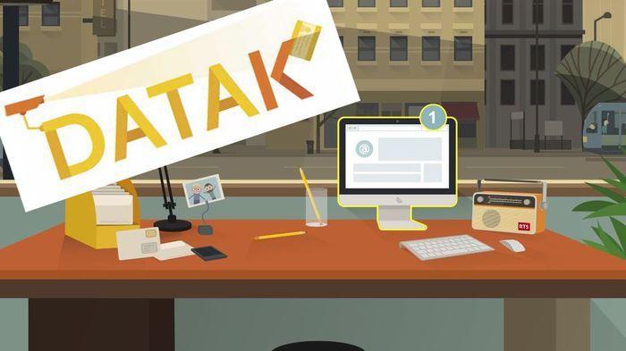 Capture d'écran du jeu en ligne DATAK, lancé par la RTS en décembre 2016.