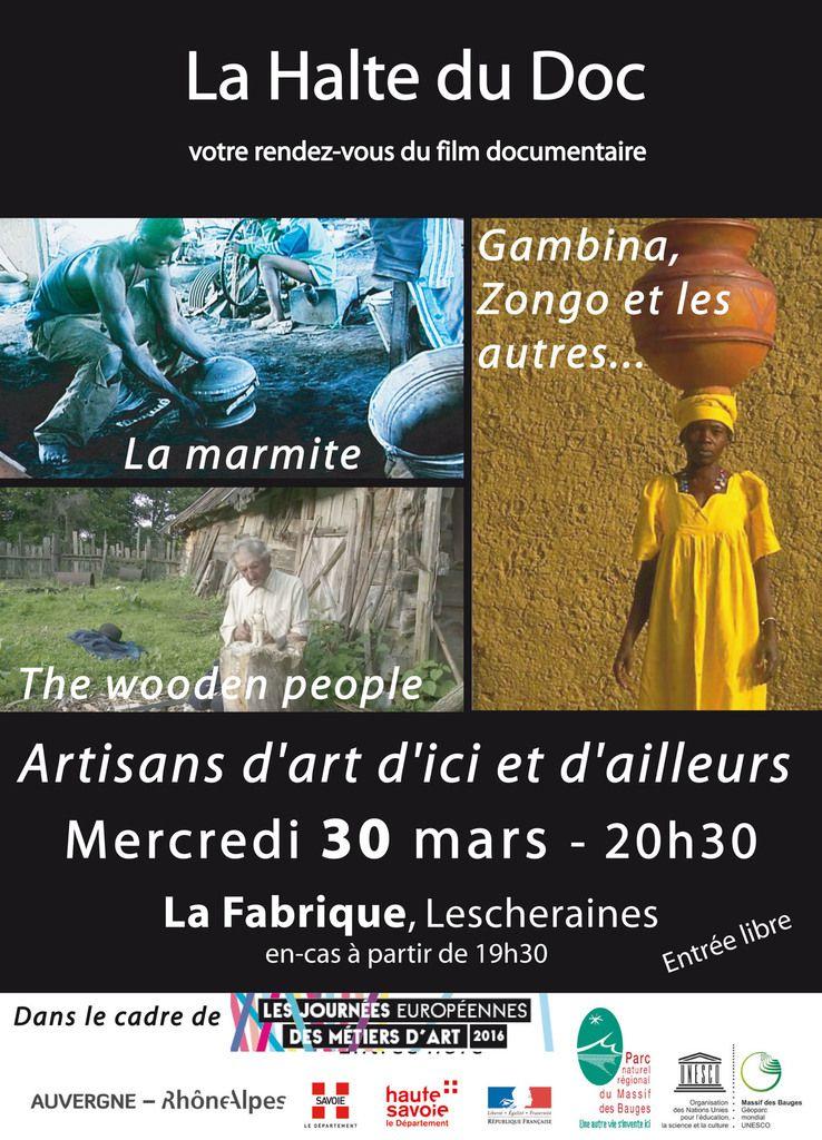 ARTISANS D'ART D'ICI ET D'AILLEURS,  Mercredi 30 mars à LESCHERAINES (La Fabrique), à 20H30