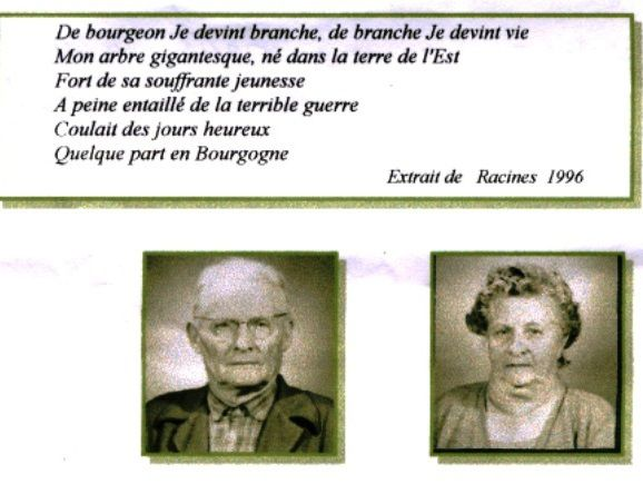 Georges JACQUOT et Joséphine THIRBAUDET   Mes grands - Parents
