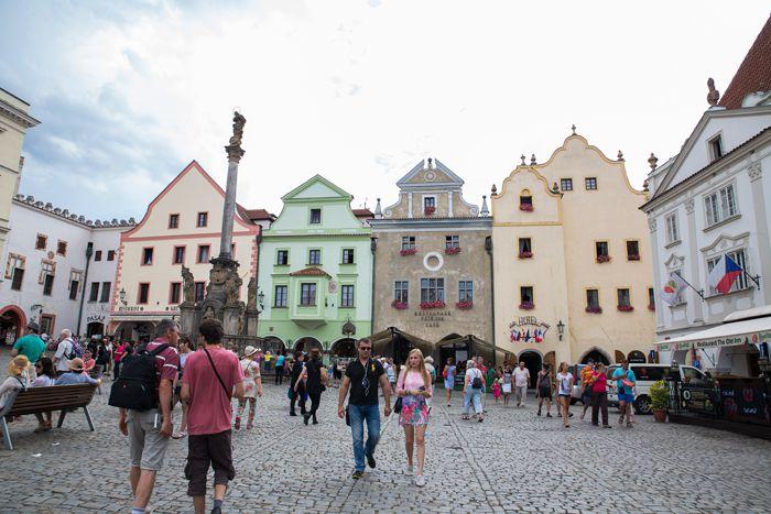 Dans les ruelles de Český-Krumlov - Bohême du sud