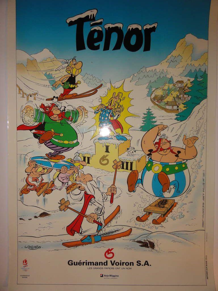 Affiche Astérix &quot&#x3B;Tenor&quot&#x3B; (1991)